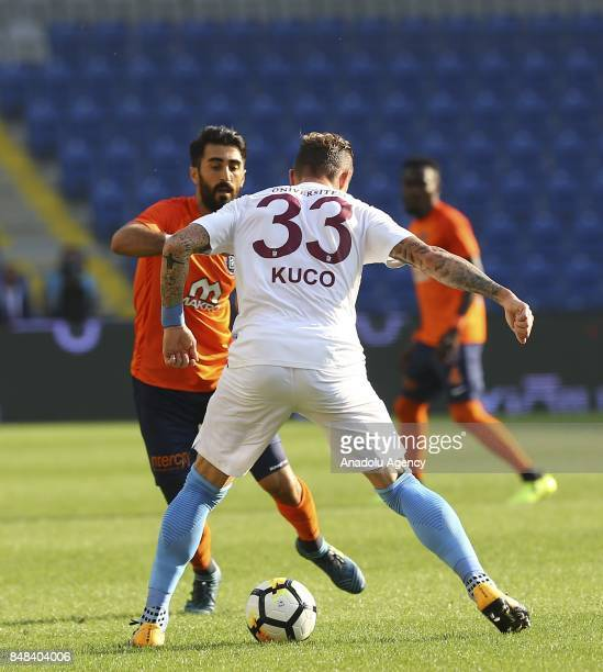 Juraj Kucka of Trabzonspor in action during the 5th week of the Turkish Super Lig match between Medipol Basaksehir and Trabzonspor at the 3rd...