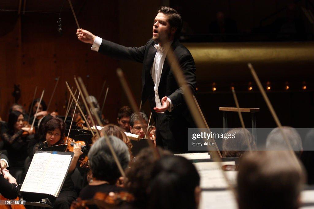 Juraj Valcuha leading the New York Philharmonic at Avery Fisher Hall on Wednesday night December 5 2012This imageJuraj Valcuha leading the New York...