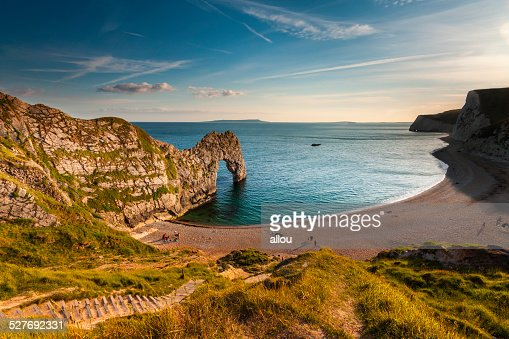 Jurassic Coastline around Durdle Door : Stock Photo