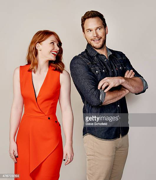 'Jurassic World' actors Bryce Dallas Howard and Chris Pratt are photographed for Wonderwall on June 5 2015 in Burbank California PUBLISHED IMAGE