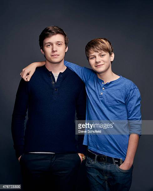 'Jurassic World' actors Ty Simpkins and Nick Robinson are photographed for Wonderwall on June 5 2015 in Burbank California PUBLISHED IMAGE