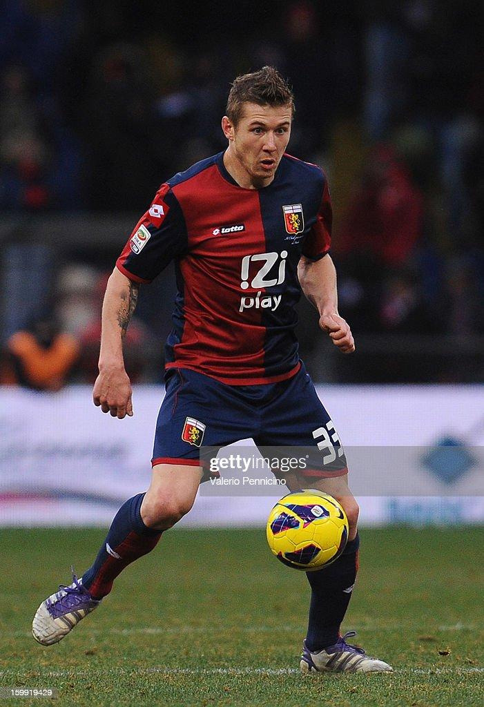 Juray Kucka of Genoa CFC in action during the Serie A match between Genoa CFC and Calcio Catania at Stadio Luigi Ferraris on January 20, 2013 in Genoa, Italy.
