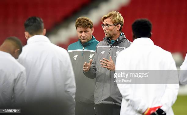 Jurgen Klopp manager of Liverpool during a training session at Kazan Arena on November 4 2015 in Kazan Russia