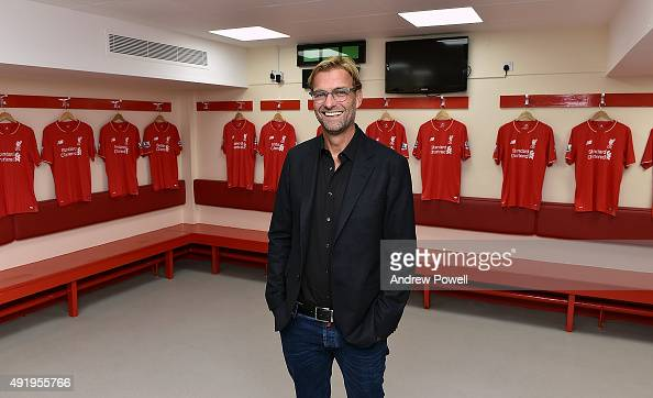 Jurgen Klopp new manager of Liverpool at Anfield on October 9 2015 in Liverpool England