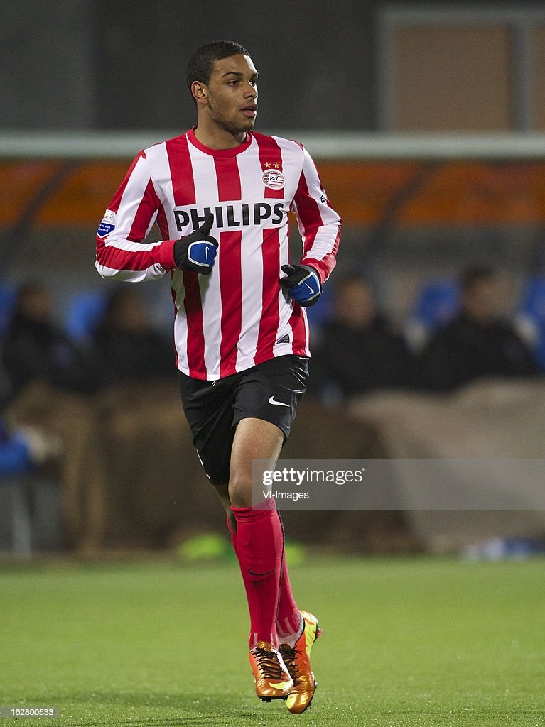Jurgen Locadia of PSV during the Dutch Cup match between PEC Zwolle and PSV Eindhoven at the IJsseldelta Stadium on february 27, 2013 in Zwolle, The Netherlands