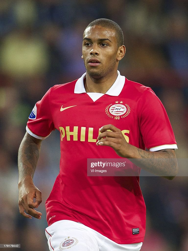 Jurgen Locadia of PSV during the Dutch Eredivisie match between PSV and SC Cambuur at Philips stadium on August 31, 2013 in Eindhoven, The Netherlands.