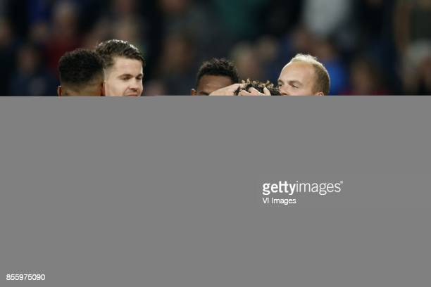 Jurgen Locadia of PSV Marco van Ginkel of PSV Joshua Brenet of PSV Hirving Lozano of PSV Jorrit Hendrix of PSV during the Dutch Eredivisie match...