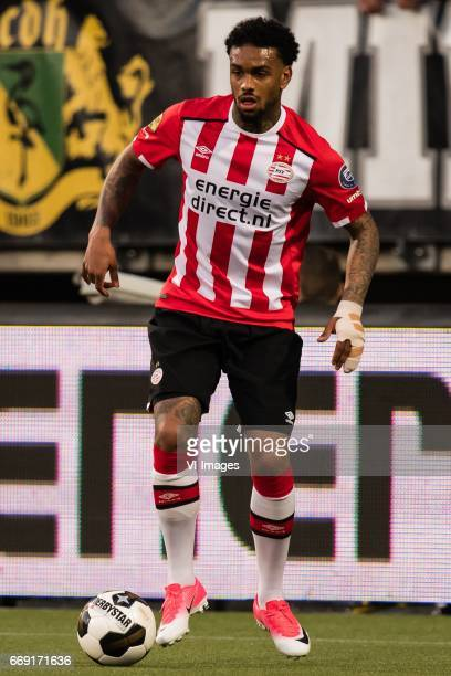 Jurgen Locadia of PSVduring the Dutch Eredivisie match between ADO Den Haag and PSV Eindhoven at Kyocera stadium on April 15 2017 in The Hague The...