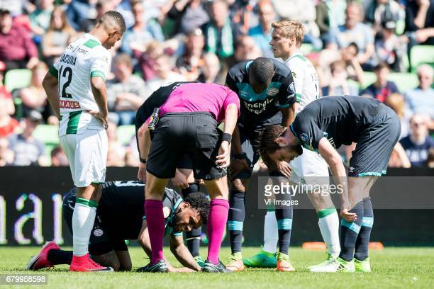 Jurgen Locadia of PSVduring the Dutch Eredivisie match between FC Groningen and PSV Eindhoven at Noordlease stadium on May 07 2017 in Groningen The...
