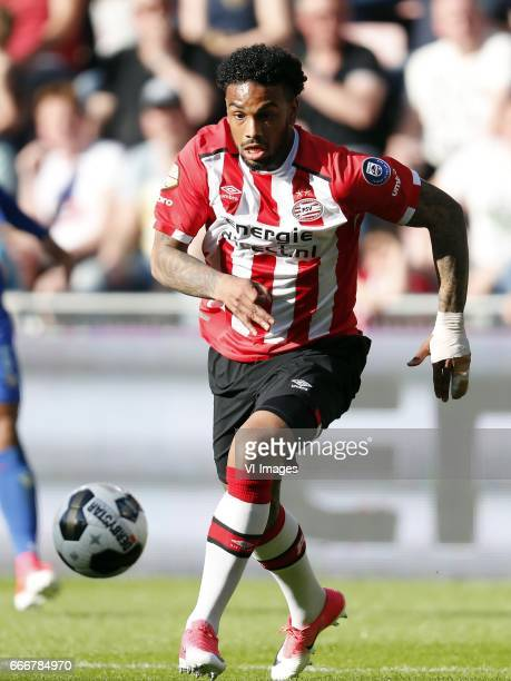 Jurgen Locadia of PSVduring the Dutch Eredivisie match between PSV Eindhoven and Willem II Tilburg at the Phillips stadium on April 09 2017 in...