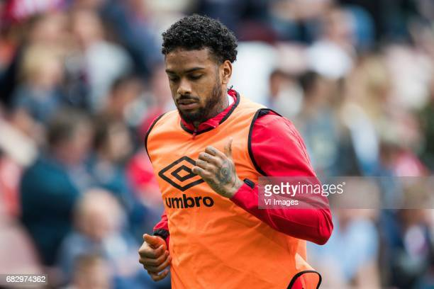 Jurgen Locadia of PSVduring the Dutch Eredivisie match between PSV Eindhoven and PEC Zwolle at the Phillips stadium on May 14 2017 in Eindhoven The...
