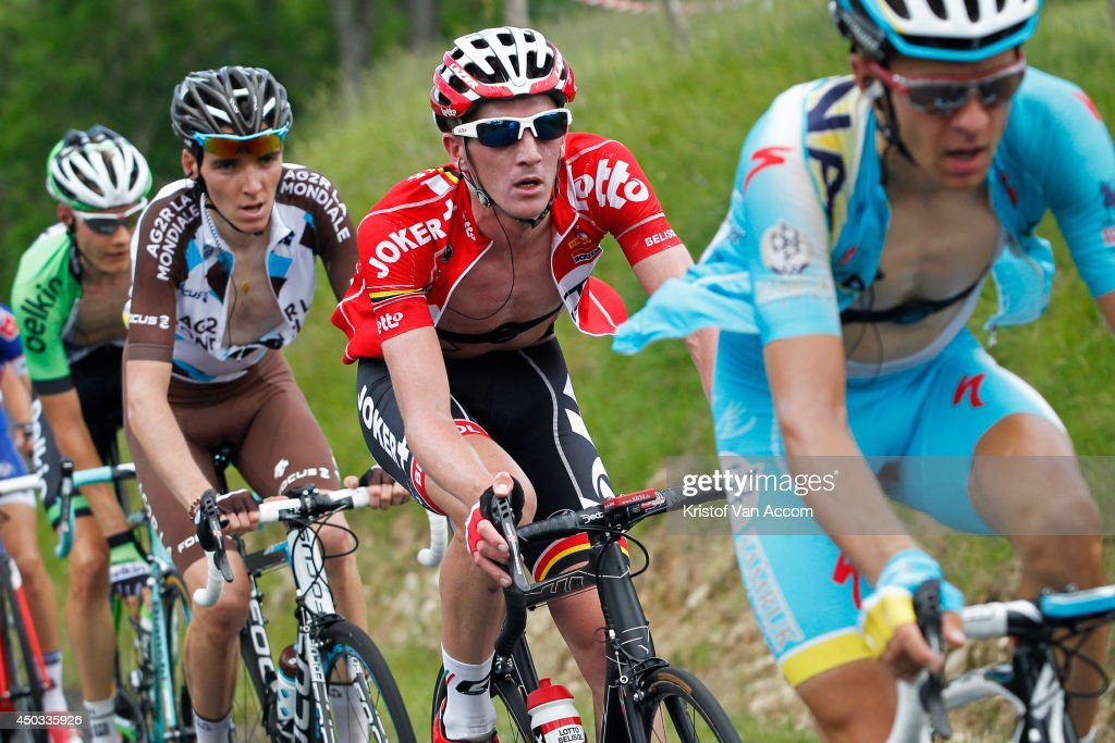 Jurgen Van Den Broeck of Belgium and Team Lotto pictured at the Col du Beal during the second stage of the Criterium du Dauphine, on June 9, 2014 between Tarare and Pays d'Olliergues - Col du Beal, France.