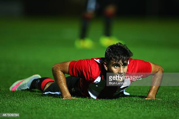 Jurgi Oteo of Athletic Club Bilbao looks on during the Premier League International Cup match between Borussia Monchengladbach II and Athletic Club...