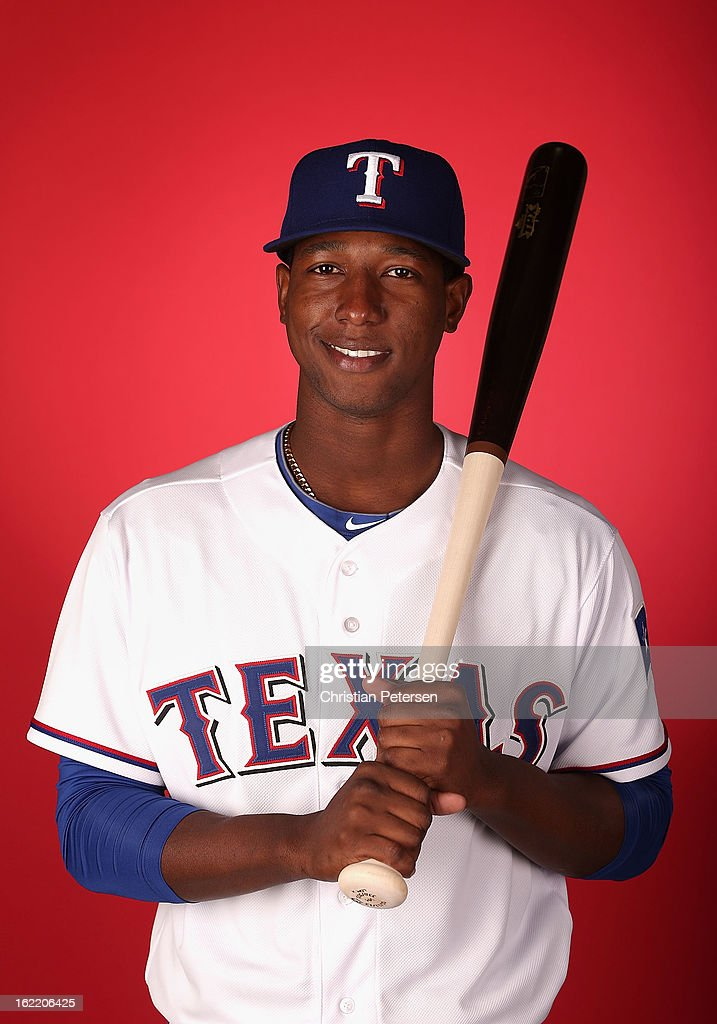 Jurickson Profar #13 of the Texas Rangers poses for a portrait during spring training photo day at Surprise Stadium on February 20, 2013 in Surprise, Arizona.