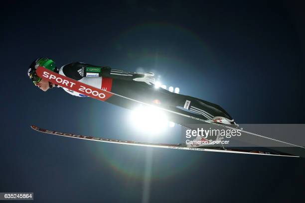 Jurij Tepes of Slovakia jumps during trainining for the 2017 FIS Ski Jumping World Cup test event For PyeongChang 2018 at Alpensia Ski Jumping Center...