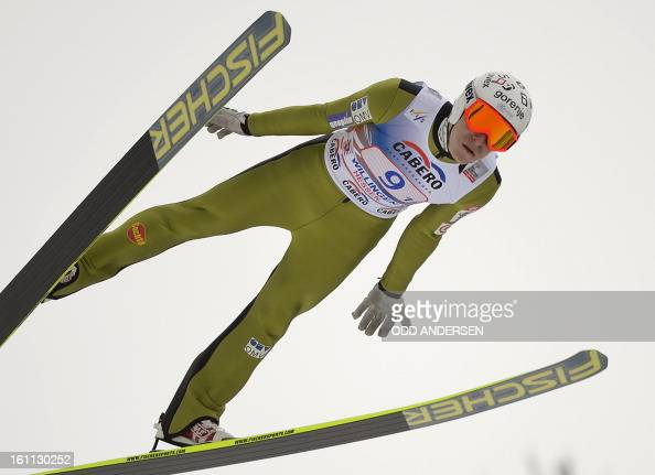 Jurij Tepes of Slovenia jumps during the FIS Ski Jumping World Cup team competition on the Muehlenkopfschanze hill in Willingen western Germany on...