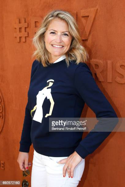 Jurnalist Astrid Bard attends the 2017 French Tennis Open Day Height at Roland Garros on June 4 2017 in Paris France