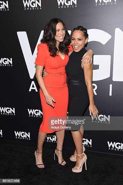 Jurnee SmollettBell and Amirah Vann attend the photo call for WGN America's 'Underground' at Langham Hotel on January 13 2017 in Pasadena California