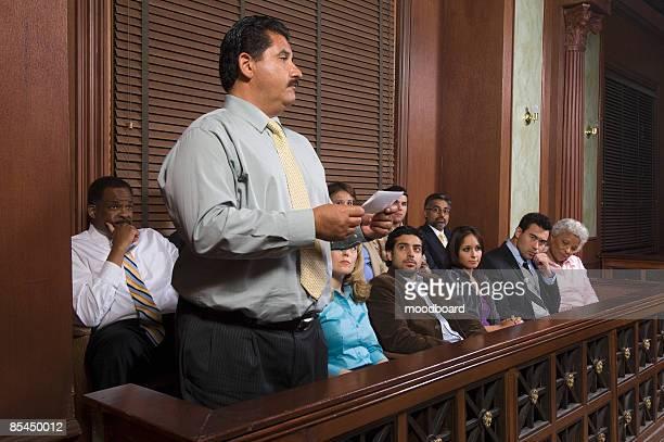 Jurado apresentação da decisão