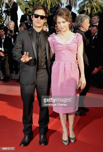 Juror Gael Garcia Bernal and girlfriend Dolores Fonzi attend the premiere of 'Biutiful' held at the Palais des Festivals during the 63rd Annual...