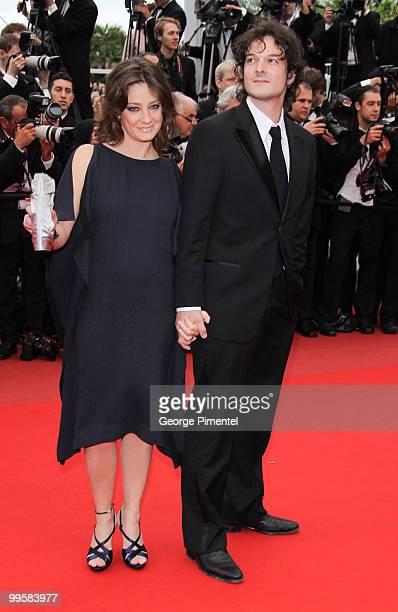 Juror Giovanna Mezzogiorno and husband Alessio Fugolo attend the 'You Will Meet A Tall Dark Stranger' Premiere held at the Palais des Festivals...