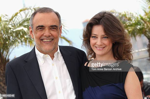 Jurors Alberto Barbera and Giovanna Mezzogiorno attend the Jury Photocall at the Palais des Festivals during the 63rd Annual Cannes International...