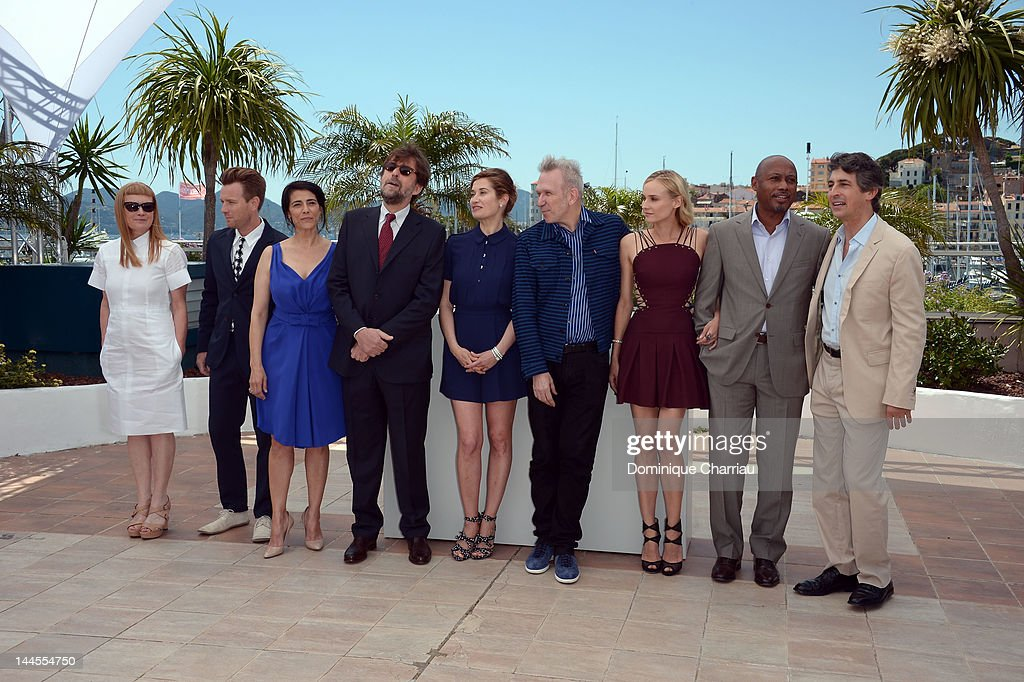 Jurors <a gi-track='captionPersonalityLinkClicked' href=/galleries/search?phrase=Andrea+Arnold&family=editorial&specificpeople=606927 ng-click='$event.stopPropagation()'>Andrea Arnold</a>, Ewan McGregor, <a gi-track='captionPersonalityLinkClicked' href=/galleries/search?phrase=Hiam+Abbass&family=editorial&specificpeople=2376798 ng-click='$event.stopPropagation()'>Hiam Abbass</a>, Jury President <a gi-track='captionPersonalityLinkClicked' href=/galleries/search?phrase=Nanni+Moretti&family=editorial&specificpeople=621165 ng-click='$event.stopPropagation()'>Nanni Moretti</a>, <a gi-track='captionPersonalityLinkClicked' href=/galleries/search?phrase=Emmanuelle+Devos&family=editorial&specificpeople=220367 ng-click='$event.stopPropagation()'>Emmanuelle Devos</a>, Jean Paul Gaultier, <a gi-track='captionPersonalityLinkClicked' href=/galleries/search?phrase=Diane+Kruger&family=editorial&specificpeople=202640 ng-click='$event.stopPropagation()'>Diane Kruger</a>, <a gi-track='captionPersonalityLinkClicked' href=/galleries/search?phrase=Raoul+Peck&family=editorial&specificpeople=243046 ng-click='$event.stopPropagation()'>Raoul Peck</a> and <a gi-track='captionPersonalityLinkClicked' href=/galleries/search?phrase=Alexander+Payne&family=editorial&specificpeople=202578 ng-click='$event.stopPropagation()'>Alexander Payne</a> attend the Jury Photocall during the 65th Annual Cannes Film Festival at the Palais des Festivals on May 16, 2012 in Cannes, France.