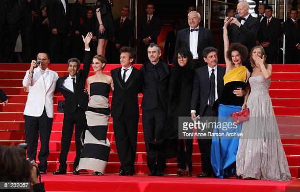 Jurors Apichatpong Weerasethakul Richid Bouchareb Natalie Portman president Sean Penn Alfonso Cuaron Marjane Satrapi Sergio Castellitto Jeanne...