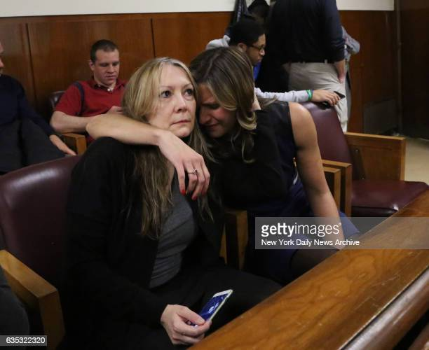 Jurors from the first trial CJ Holm and Jennifer O'Connor after the verdict of Pedro Hernandez who was found guilty in Manhattan Supreme Court on...