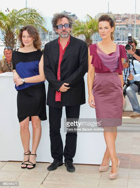 Jurors Giovanna Mezzogiorno Tim Burton and Kate Beckinsale attend the Jury Photocall at the Palais des Festivals during the 63rd Annual Cannes...