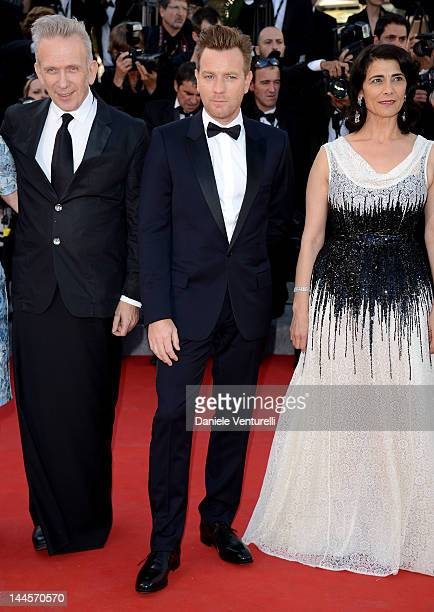 Jurors Jean Paul Gaultier Ewan McGregor and Hiam Abbass attend the Opening Ceremony and 'Moonrise Kingdom' Premiere during the 65th Annual Cannes...