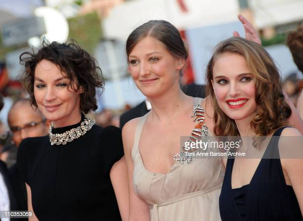 Jurors Jeanne Balibar Alexandra Maria Lara and Natalie Portman attends the Indiana Jones and the Kingdom of the Crystal Skull premiere at the Palais...