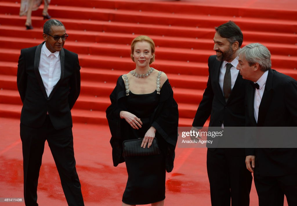 Jurryman Franziska Petri Abderrahmane Sissako Levan Koguashvili and Laurent Danielou pose on the red carpet during the closing ceremony of the 36th...