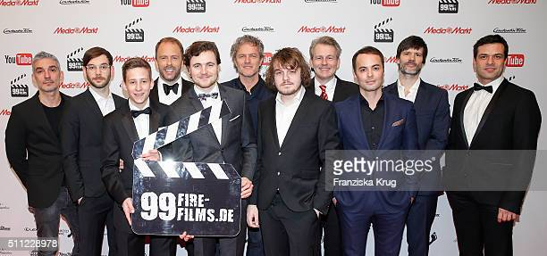 Jury groupshot at the 99FireFilmAward 2016 at Admiralspalast on February 18 2016 in Berlin Germany