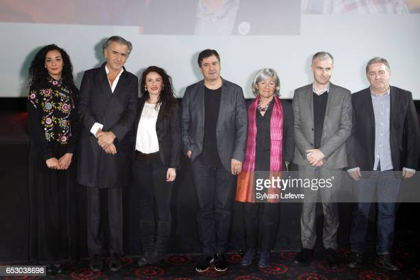 Jury Loubna Abidar BernardHenri Levy Elsa Lunghini Michel Benjamin Catherine Dussart Pierre Filmon and Pascal Plisson attend opening ceremony of...