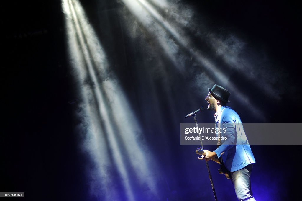 Jury Magliolo performs on stage before Selena Gomez concert at Alcatraz on September 16, 2013 in Milan, Italy.