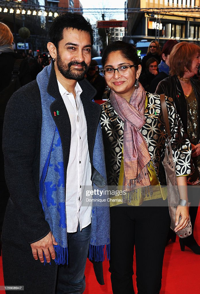 Jury member <a gi-track='captionPersonalityLinkClicked' href=/galleries/search?phrase=Aamir+Khan+-+Actor&family=editorial&specificpeople=806800 ng-click='$event.stopPropagation()'>Aamir Khan</a> with his wife Kiran Rao attend the '<a gi-track='captionPersonalityLinkClicked' href=/galleries/search?phrase=Jafar+Panahi&family=editorial&specificpeople=621874 ng-click='$event.stopPropagation()'>Jafar Panahi</a> - Filmmaker Of The World' Premiere during day two of the 61st Berlin International Film Festival at Berlinale Palace on February 11, 2011 in Berlin, Germany.