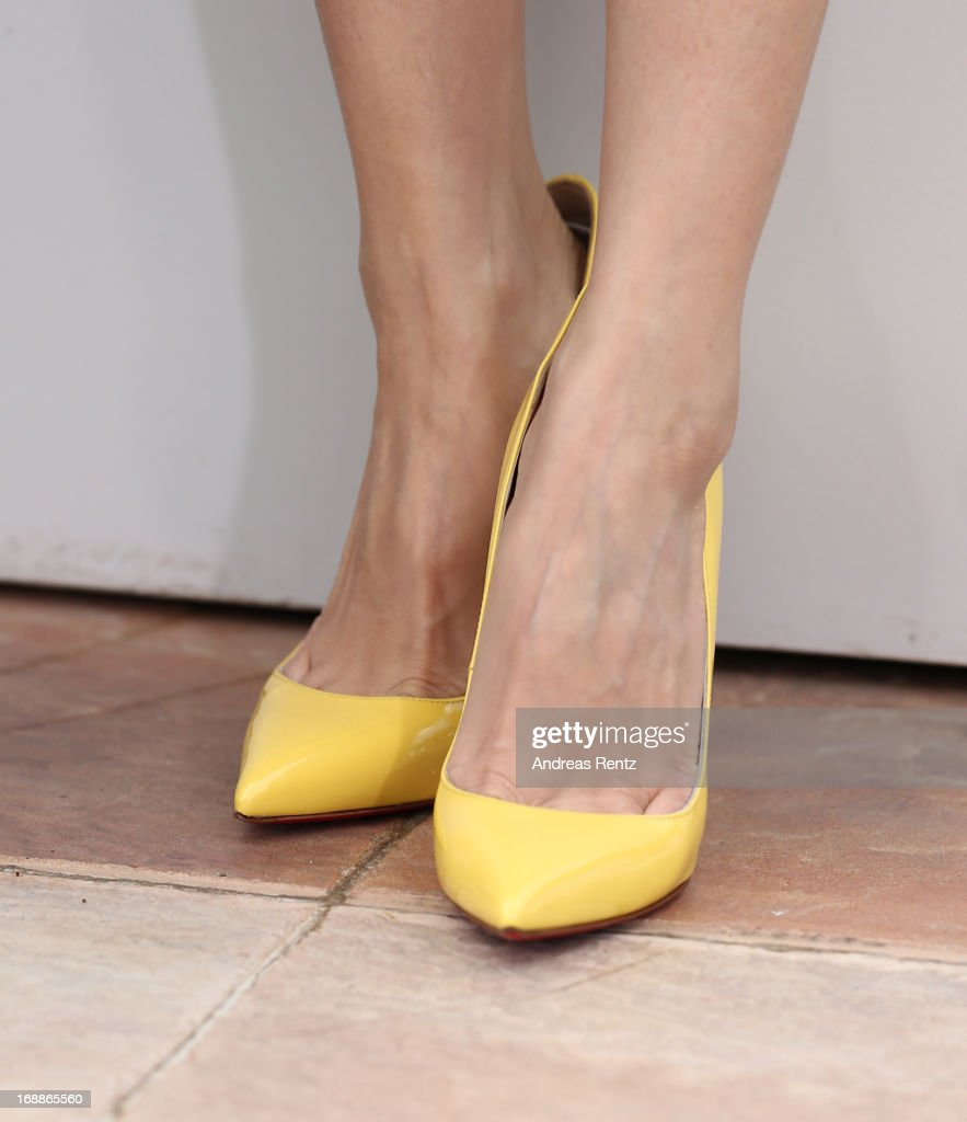 Jury member actress Zhang Ziyi (shoe detail) attends the Jury 'Un Certain Regard' Photocall during the 66th Annual Cannes Film Festival at the Palais des Festivals on May 16, 2013 in Cannes, France.