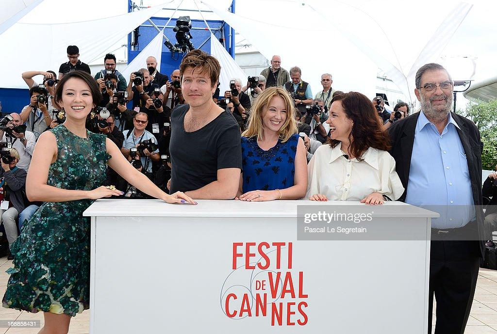 Jury member actress Zhang Ziyi Jury President Thomas Vinterberg Jury members actress Ludivine Sagnier Director Ilda Santiago and Producer Enrique...