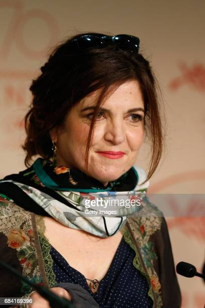 Jury member Agnes Jaoui attends the Jury press conference during the 70th annual Cannes Film Festival at Palais des Festivals on May 17 2017 in...