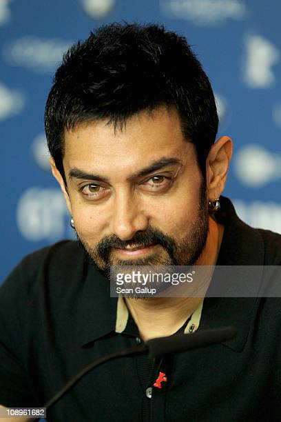 Jury member and actor Aamir Khan attends the International Jury press conference during day one of the 61st Berlin International Film Festival at the...