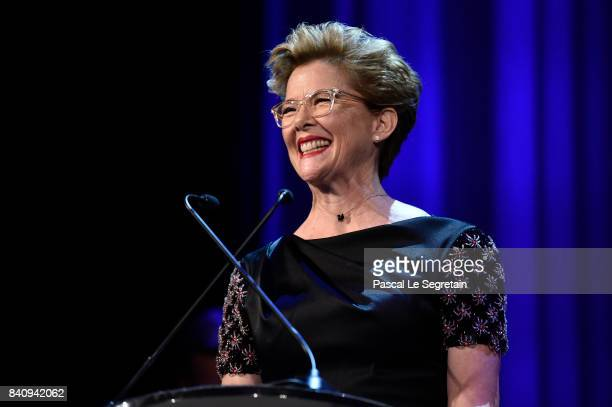 Jury member Annette Bening attends the'Downsizing' screening and Opening Ceremony during the 74th Venice Film Festival at Sala Grande on August 30...