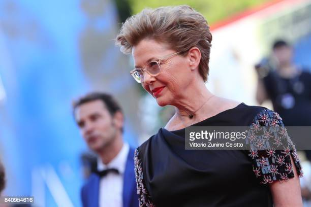 Jury member Annette Bening walks the red carpet ahead of the 'Downsizing' screening and Opening Ceremony during the 74th Venice Film Festival at Sala...
