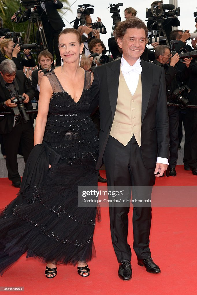 Jury member <a gi-track='captionPersonalityLinkClicked' href=/galleries/search?phrase=Carole+Bouquet&family=editorial&specificpeople=208685 ng-click='$event.stopPropagation()'>Carole Bouquet</a> (L) and Philippe Sereys de Rothschild (R) attend 'The Search' Premiere at the 67th Annual Cannes Film Festival on May 21, 2014 in Cannes, France.