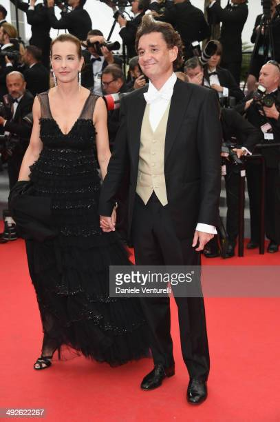 Jury member Carole Bouquet and Philippe Sereys de Rothschild attends 'The Search' Premiere at the 67th Annual Cannes Film Festival on May 21 2014 in...