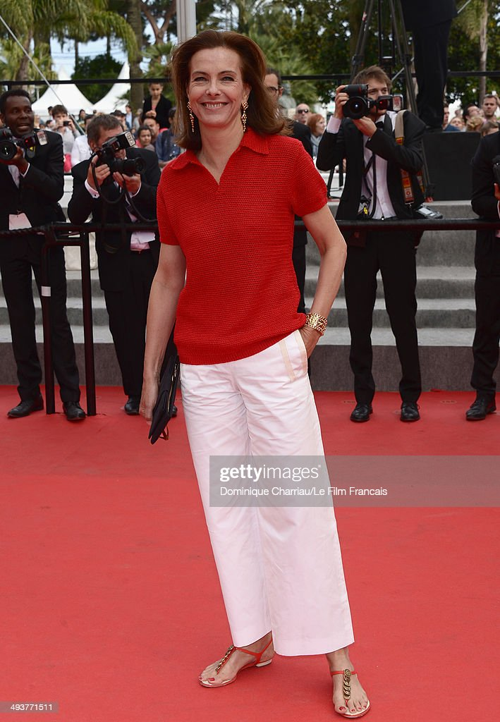 Jury Member Carole Bouquet attends the red carpet for the Palme D'Or winners at the 67th Annual Cannes Film Festival on May 25, 2014 in Cannes, France.