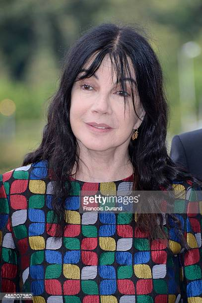Jury member Carole Laure attends the Jury photocall during the 8th Angouleme FrenchSpeaking Film Festival on August 25 2015 in Angouleme France