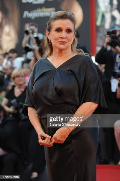Jury member Carrie Fisher attends 'Gravity' premiere and Opening Ceremony during The 70th Venice International Film Festival at Sala Grande on August...
