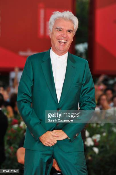 Jury member David Byrne attends the 'Damsels In Distress' premiere and closing ceremony during the 68th Venice Film Festival at Palazzo del Cinema on...
