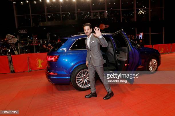 Jury member Diego Luna arrives at the 'Beuys' premiere during the 67th Berlinale International Film Festival Berlin at Berlinale Palace on February...